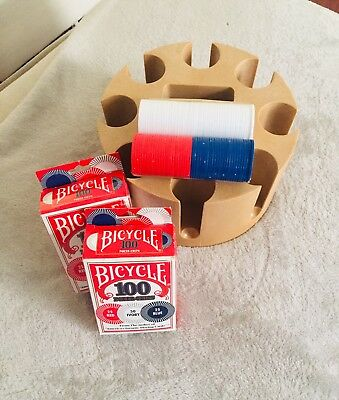 Bicycle Poker chips & caddy