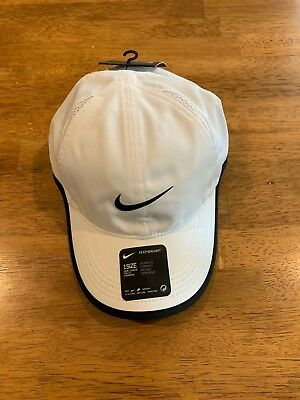 Nike Tennis Featherlight Dri Fit Cap Hat OSFA White 679424 100 NEW With Tags a660eb555df5