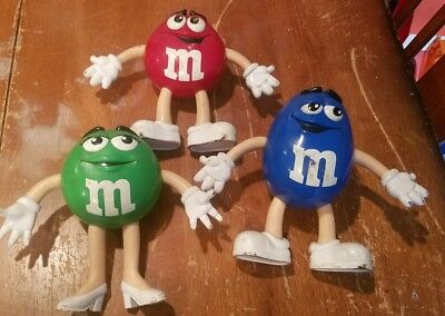 Lot of 3 M & M Collectable Bendable Figures