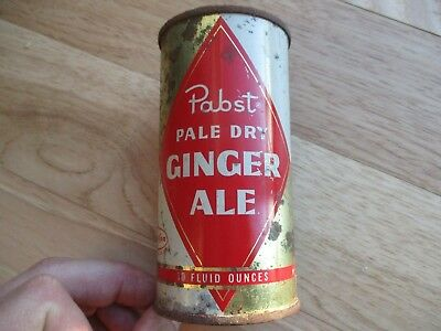 Pabst GINGER ALE Mira Can flat top soda 10oz PABST BREWING MILWAUKEE Wisconsin