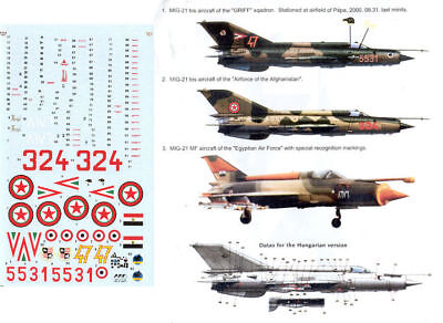 1:48 MiG-21MF, bis HAD decal (Eduard, Academy, Italeri) without instruction!
