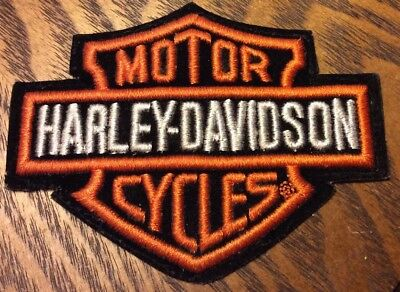 Harley Davidon Patch Vintage Bar And Shield