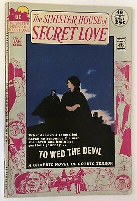 """The Sinister House Of Secret Love #2 DC 1972 1st Use Of Term """"Graphic Novel"""" FN+"""