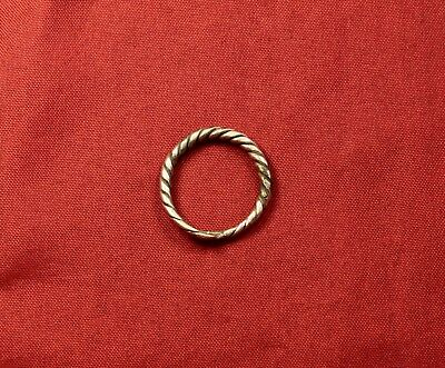 Fine Ancient Celtic Silver Screwed Ring