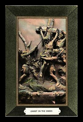 Dr Jim Stamps Us Christ On Th Cross Made In Germany Topical Religious Postcard