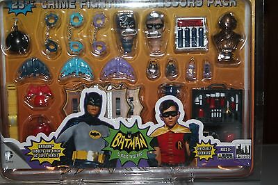 BATMAN 1966 TV SERIES ACCESSORY PACK 8 inch Batshield, Batcuffs, batarangs  new