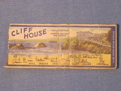 *** Cliff House Matchbook Cover - San Francisco / Oldie here!