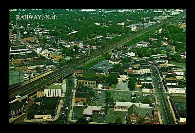 Dr Jim Stamps Us Rahway New Jersey Aerial View Chrome Postcard