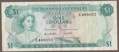 1965 Bahamas 1 Dollar Note