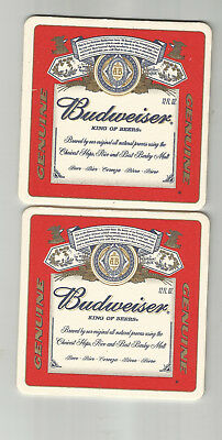 """Lot Of 5 Budweiser Beer Label Coasters-St.Louis, MO 4""""  """"""""Genuine"""" #590"""