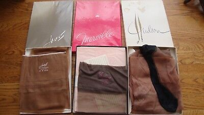 Lot of 8 Pairs of Vintage Stocking Hosiery Hudson Hanes Merville Boxed