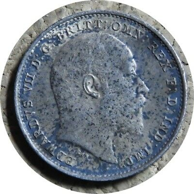 elf  Great Britain 3 Pence 1903 Silver  Edward VII   Maundy