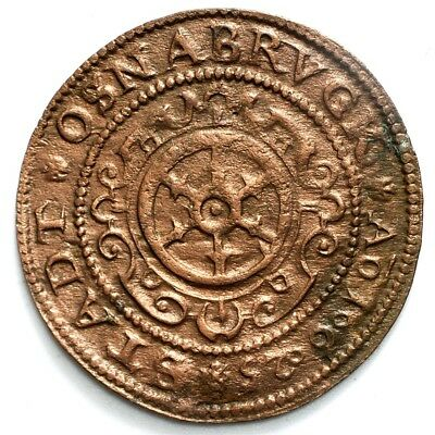 1625 Osnabruck 9 Pfennig - XF Detail - MB # 97 - Copper - German States - Scarce