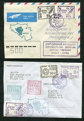 Lot Of 6 Covers, U,n, , Nato Ifor And Sfor Forces In Bosnia (6 Scans)