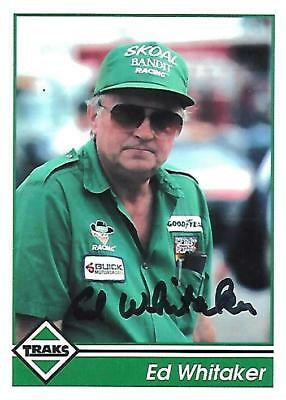 ED WHITAKER - Hand Signed Autographed  1992 Traks  Card #107