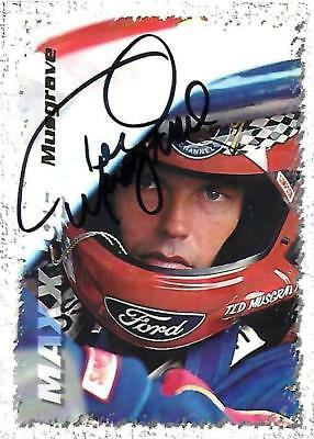TED MUSGRAVE - Hand Signed Autographed  1995 Maxx Series One  Card #15