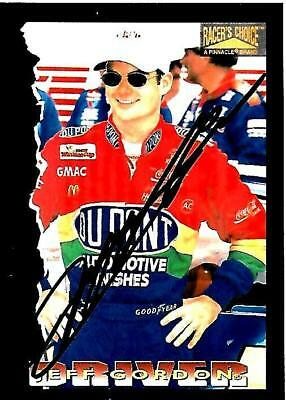 JEFF GORDON - Hand Signed Autographed  1996 Racer's Choice  Card #9