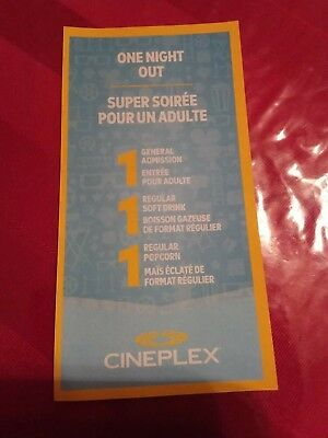 Cineplex Entertainment One Night Out Movie Pass