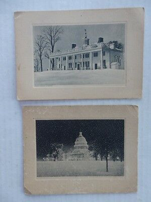 2 Vintage Christmas Cards from A. Piatt Andrew US Congressman from MA 1931 1933