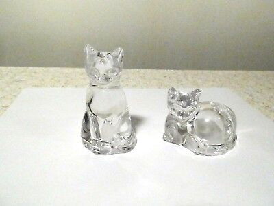 Gorham Lead Crystal Cat Salt And Pepper Shakers Mint With Original Label