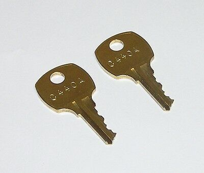 2 - C440A AMI Rowe Jukebox Brass Replacement Cabinet Keys fit CompX National