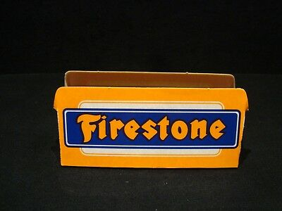 Vintage Original Firestone Tire Cardboard Display Stand Dealer Advertising Sign