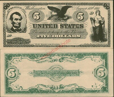 """A20 (Version 4) """"buff"""" """"narrow"""" Lincoln $5 Demand Movie Prop Stage Money Note!"""
