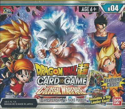 Dragon Ball Super Card Game Colossal Warfare Factory Sealed Box Series 4