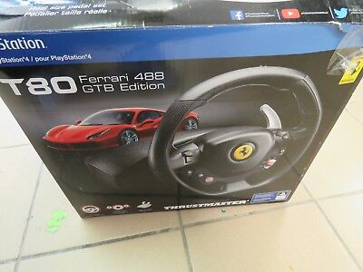 Thrustmaster T80 Ferrari 488 Gtb Edition Racing Wheel Ps4 Supercars Gallery