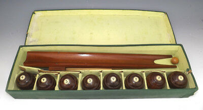 Antique The Royal Game Of Billiard Bowls - Wooden Table Bowls Set - Boxed!