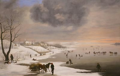 """stunning  oil painting handpainted on canvas """" Winter Landscape """""""