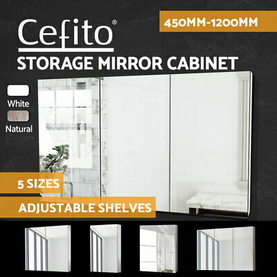 Cefito Bathroom Vanity Mirror Shaving Cabinet Basin 450/600/750/900/1200mm Var