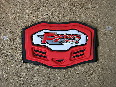 motocross kids body belt red new in pack