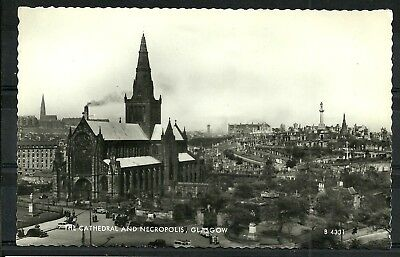 Postcard  : Glasgow the Cathedral and Necropolis, real photo