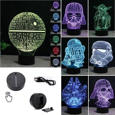 Star Wars Death Star 3D LED Night Light *7 Color Touch Table Desk Art Lamp Gifts