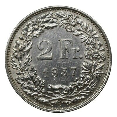 1957 Switzerland 2 Francs -B- Coin Silver Silver Mf29231