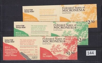 !! Micronesia - Mnh - 3 Booklets - Flora, Mountains