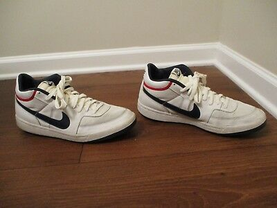 bc044e30980 Classic 2003 Used Worn Size 12 Nike Challenge Court Mid Shoes White Navy Red