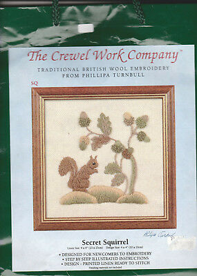 The Crewel Work Company Secret Squirrel Crewel Embroidery  Kit