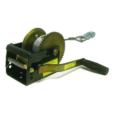Jarrett Winch 6m 5mm Cable Snap Hook 1-Speed 5:1 700kg Boat Marine Trailer Car