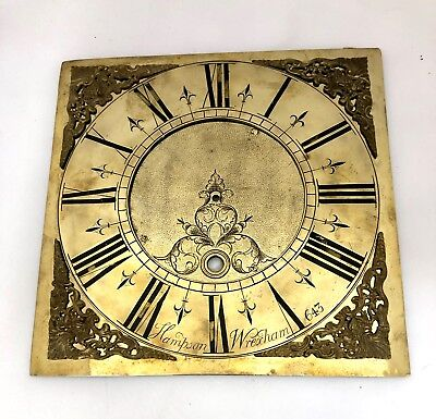 Antique LONGCASE GRANDFATHER CLOCK Brass Dial Hampson Wrexham 643