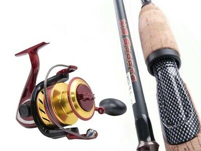 SARATOGA 7'0 3kg Carbon Fibre Spinning Fishing Rod and Reel Combo Bream Trout