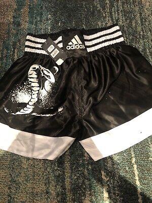 Adidas Boxing training shorts in black and white UK Large. New