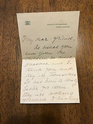 Frances Cleveland 1895 Autograph Letter Signed As First Lady - Executive Mansion