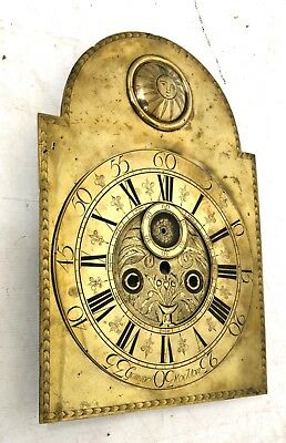 Antique LONGCASE GRANDFATHER CLOCK Brass Dial GAMWELL STOCKTON