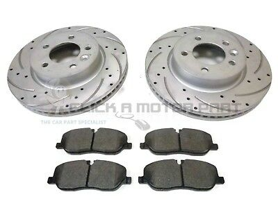 FRONT DRILLED GROOVED 317mm BRAKE DISCS FOR LAND RANGE ROVER DISCOVERY 2.7 TDVM