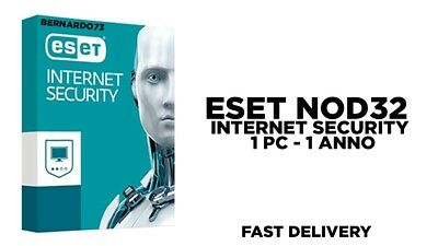ESET NOD32 Internet Security 2019 1 PC , 1 Anno, GLOBAL, ESD Antivirus