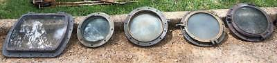 5 Antique Brass Ship Portholes Heavy!!!