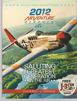 Oshkosh,wisconsin 2012 Airventure Oshkosh Eaa Annual Aviation Event Program