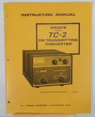 RL Drake TC-2 Original Instruction Manual in Excellent Condition
